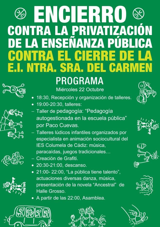 Programa encierro Ntra Señora del Carmen