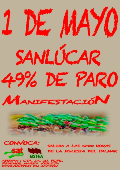 1º Mayo manifestacion Sanlucar