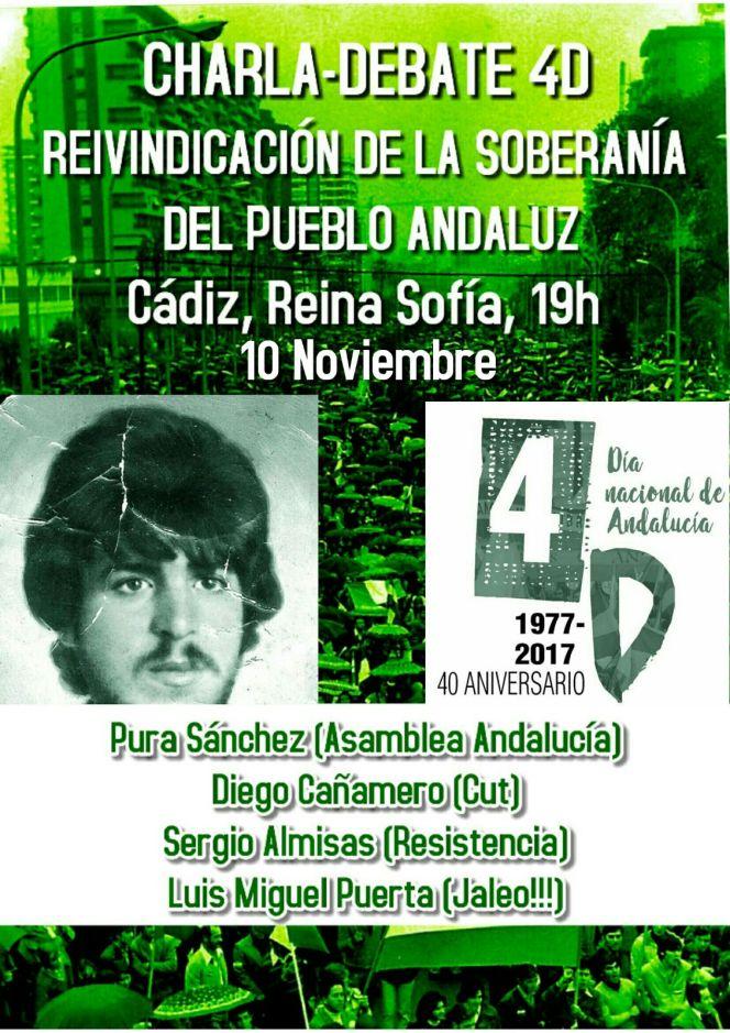 Cartel Cádiz Charla Debate 4D 2017 10Nov