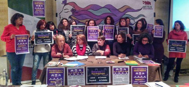 rueda de prensa 8M en Granada