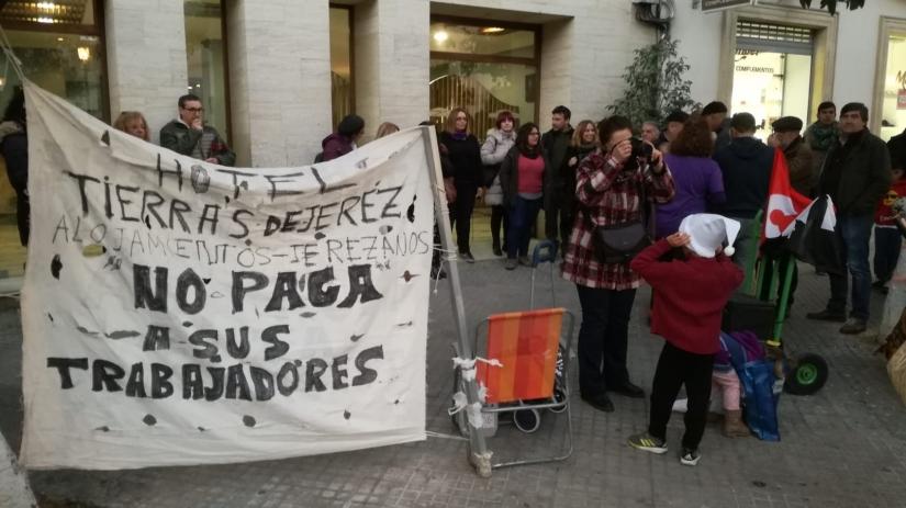 Comunicado y convocatoria para manifestación de la Confluencia Sindical de Cádiz en apoyo de ManuelaVargas